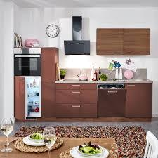 küchenblock blockküche küche braun lackiert holzküche