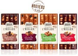 nestlé présente 4 nouvelles tablettes fortes en chocolat signées