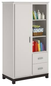 Ameriwood Storage Armoire Cabinet by Ameriwood Cosco Leni Armoire White And Coffee House Plank