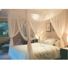 Blackout Canopy Bed Curtains by Compare Prices On White Bed Curtains Online Shopping Buy Low