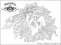 Mermaid Blog Free Fairy Coloring Pages Marjolein Gulinski And More