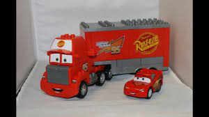 Lego Lightning Mcqueen Mack Truck, Big Trucks For Kids | Trucks ...