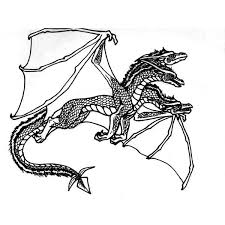 Flying Dragon Coloring Pages
