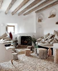 Full Size Of Living Room Awesome And Cozy Rustic Designs White With Stone Floor Fireplace Design