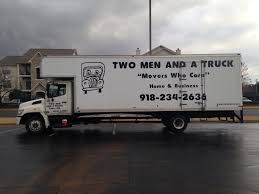 Two Men And A Truck Tulsa - Broken Arrow, OK Movers Two Men And A Trucks Extensive Traing Paves The Road To And A Truck Deal With Logistics Of Political Movements Las Vegas North Nv Movers Taylor Partners Ross Medical Education Center Help Us Deliver Hospital Gifts For Kids Two Men And Truck On Twitter Are You Watching The Chicago Movers In South Macomb Mi Best Places Worktwo Covabiz Magazine Driver Who Blog Nashville Tn Headquarter Interior Design Paragon Filetwo Trucksjpg Wikimedia Commons