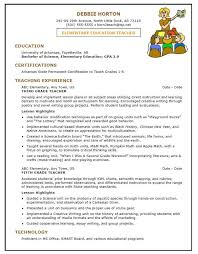Teacher Resume Examples 2016 For Elementary School Shalomhouse Us