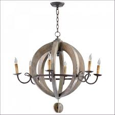 Rustic Dining Room Light Fixtures by Interiors Metal And Wood Orb Chandelier Large Orb Light Fixture