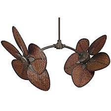 twin star ii dual ceiling fan in oil rubbed bronze with 50 arbor