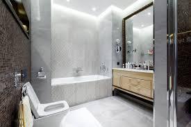 damask bathroom bathroom contemporary with light gray tile cove