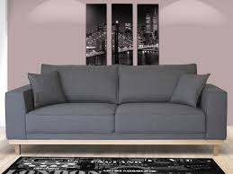 canapé 2 3 places canapé 3 places en tissu lionel coloris gris