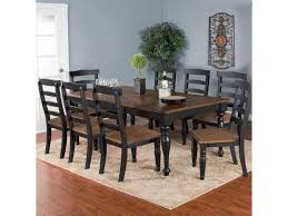 Bourbon Trail 9 Piece Extension Dining Table Set With Ladderback Chairs By Sunny Designs