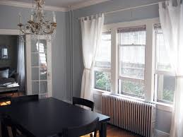 Living Room Dining With White Curtains Green And Marvellous
