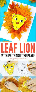 Lion Leaf Craft For Kids With Printable Template Fun Fall Activity In