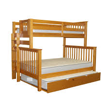 bedz king mission twin over full bunk bed with trundle arafen