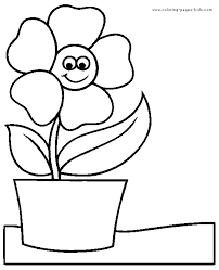 Flower Pot Coloring Pages 19 For Kids Food Flowers
