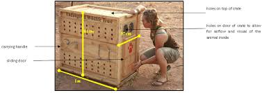 Transport Crate Manufactured For The Endangered Wildlife Trust