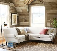 brooklyn upholstered 2 piece l shaped sectional pottery barn