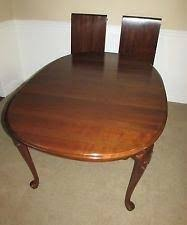 ethan allen dining table reviews mahogany room pads 614 set