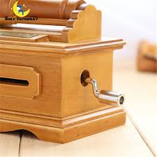 Diy Paper Tape Composting Wooden Hand Cranked Phonograph Music Box To Girlfriend Birthday Gift Ideas Customized Collectibles In Boxes From Home