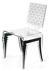 chaises plexiglass chaise plexiglass design baroque diam motif blanc acrila