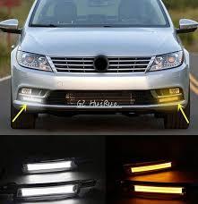 2x white yellow led daytime running lights drl for volkswagen