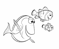 Fish Nemo And Friends Coloring Page