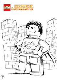 Lego Superman Printable Coloring Page