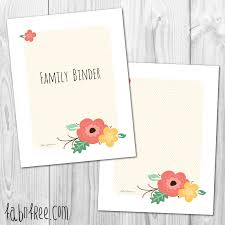 Free Printable Home Management Binder Cover And Blank Fabnfree