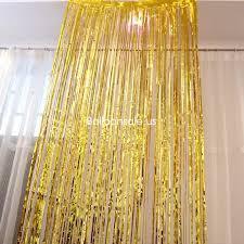 cheap metallic foil fringe door curtains party doorway curtains