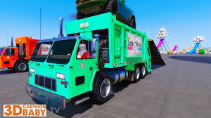 100 Garbage Trucks For Kids Learn Colors For Funny Video For With And