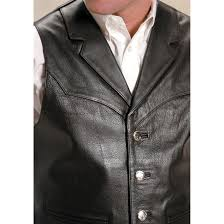 roper saguaro west nappa leather vest black 127629 vests at