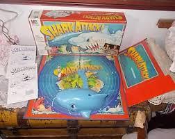 Shark Attack Board Game 1988 Vintage Morterized