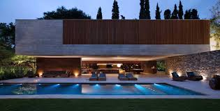 Spectacular Bedroom House Plans by Spectacular Modern House With Open Design And Adjacent Pool