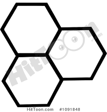 Honey b Clipart Three Black and White Honey bs by