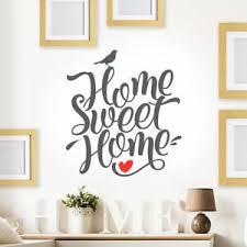 home sweet home wandtattoo spruch familie wohnzimmer wand