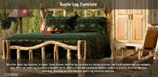 rustic furniture and furnishings