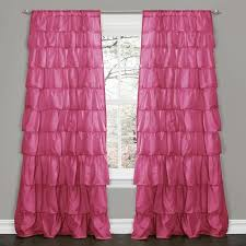 Lush Decor Window Curtains by Decor Pink 84 Inch Ruffle Curtain Panel