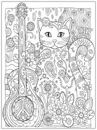 Printable Pagan Coloring Pages Pretty Cat For Adult Adults Free