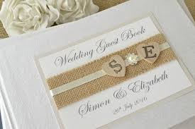 Lace Hearts Wedding Guest Book