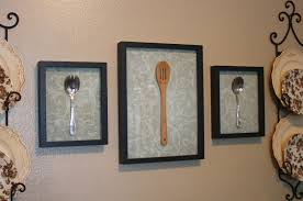 Attractive Kitchen Wall Art Decorating Ideas Spoon Artwork White Damask Background Vector Full Wonderful