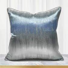 luxus blau silber kissen abdeckung 45x45 dekorative wurf