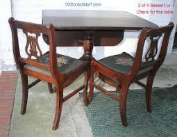Lyre Back Chairs History by Antique Furniture Cherry Wood Harp Table1947 Duncan Fife Drop