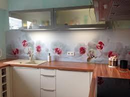 küchenrückwand orchideen küchen rückwand küche selber