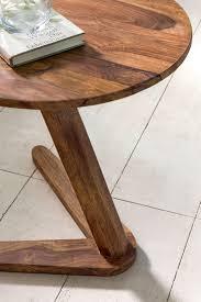 weran beistelltisch boha massivholz sheesham design
