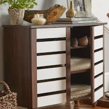 Baxton Shoe Cabinet Canada by Mission Style Shoe Storage Cabinet With Mirrored Doors Best