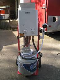 Cowboy Shower With Heater And Pump All Contained -- Hot Water On ...