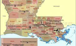 Arkansas Colleges And Universities Map Of In Louisiana Usa 800