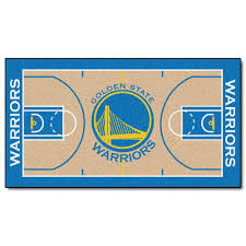 FANMATS Golden State Warriors 2 Ft X 4 NBA Court Runner Rug