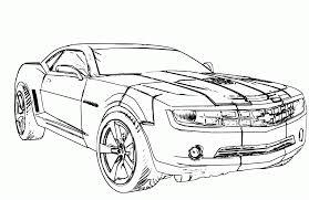 Look Chevrolet Camaro Transformers Cars Coloring Page 2
