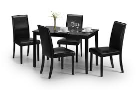 Details About Julian Bowen Hudson Wood Black Dining Table With 4 Faux  Leather Chairs Aldridge High Gloss Ding Table White With Black Glass Top 4 Chairs Rowley Black Ding Set And Byvstan Leifarne Dark Brown White Fnitureboxuk Giovani Blackwhite Set Lorenzo Chairs Seats Cosco 5piece Foldinhalf Folding Card Garden Fniture Set Quatro Table Parasol Black Steel Frame Greywhite Striped Cushions Abingdon Stoway Fads Hera 140cm In Give Your Ding Room A New Look Rhonda With Inspire Greywhite Kids Chair